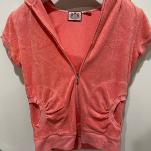 JUICY COUTURE terry cloth track zip up